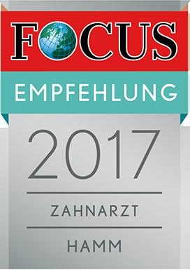 Abbildung Focus-Siegel Empfehlung 2017 Hamm