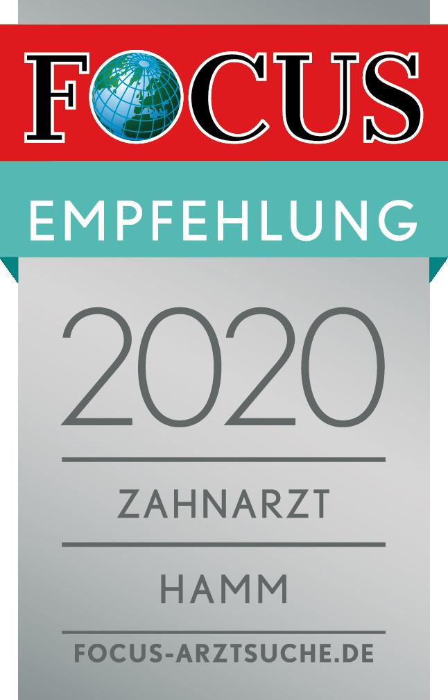 Abbildung Focus-Siegel Empfehlung 2020 Hamm