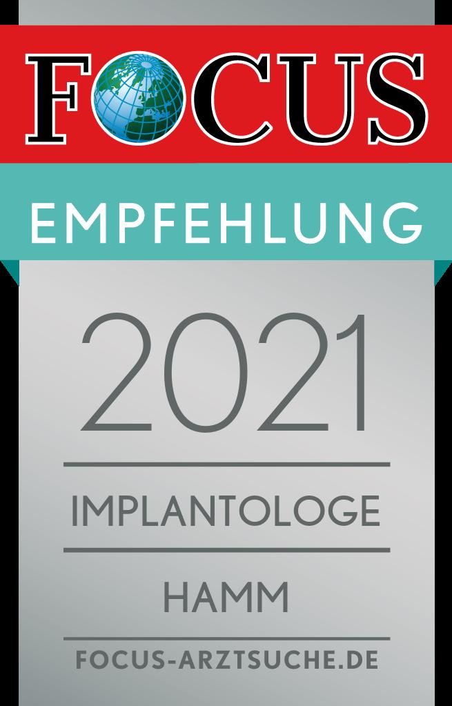 Abbildung Focus-Siegel Empfehlung 2021 Hamm